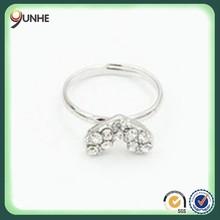 Retro Shiny Love Hearts Full Of Diamond Rings Hot Selling Female Style