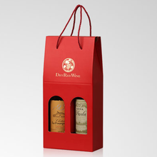 High Quality New style paper wine box for 2 bottle