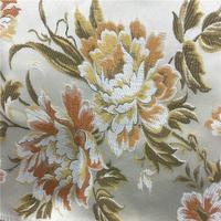 imitation silk jacquard sofa fabric with big flowers for home decoration/sofa/curtain/cushion/etc