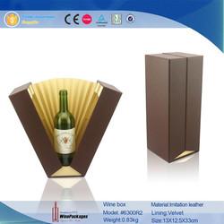 professional manufacturer wholesale custom leather wine box