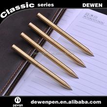 popular and fashion design metal pen brass color metal ball pen