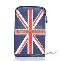 Newest The national flag style Pouch Bag Leather Case for Samsung Galaxy S6