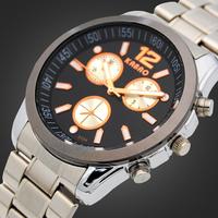 Black Plate Men Stainless Steel Watch Case Fashion Business Men Stainless Steel Quartz Watch
