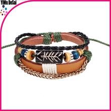 Double rotate bone bracelet Primitive tribes small beads woven bracelet