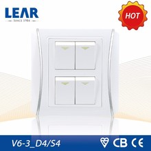 Anti fire clear light switch cover