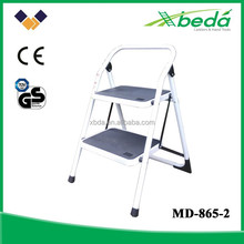 Folding steel material white wide step motorcycle ladder domestic ladder (MD-865-2)