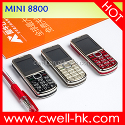 Mini 8800 1.44 inch very small cheap mobile phone with 5 colors available