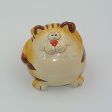 Mini cute cat ceramic money saving box creative toy gift piggy bank for the coin cash collectible