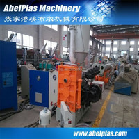 HDPE twin pipe making machine