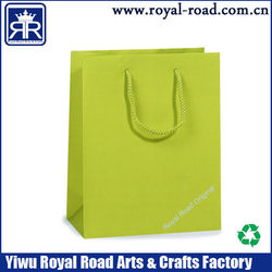 Color Printing Embossing Logo Luxury ribbon tie paper bags for gift