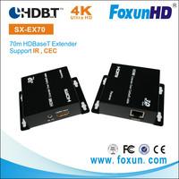 China SHUNXUN IR Control 4K 1080P HD Video Audio Transmitter Receiver,HDBaseT HDMI Extender 70m