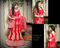 Designer Gota Patti Cutdana Work Bridal Lehenga Choli