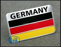 customized metal flag car emblem /logo