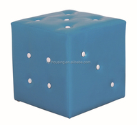 Modern colorful leather stool/dice stool