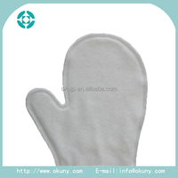 Needle-punched non-woven white elastic household working non woven gloves