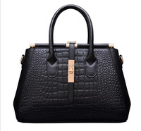 Genuine LEATHER CROCODILE PATTERN TOTE BAGS TOP HANDLE HANDBAGS