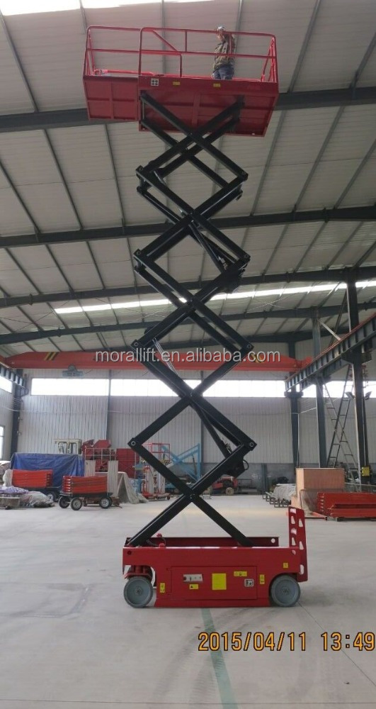 Small Hydraulic Lift Platforms : Self propelled aerial work in hydraulic mini lift platform