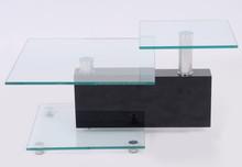 CT-2116 High Quality Modern Glass Top wood Frame Coffee Table