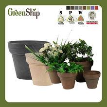 World Popular Decorative Garden Round Flower Pots/ UV-protective/ lightweight/ long lifetime/ durable--Green Ship