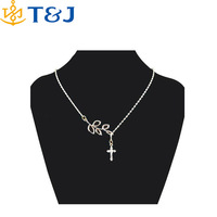Jesus Christ Men Best Gift Silver Plated Crucifix Pendant Never faded Metal Cross Chain Crucifix Pendant Lariat Necklace/