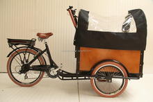 hot sale front loading electric family use cargo bike tricycle with three wheel for sale