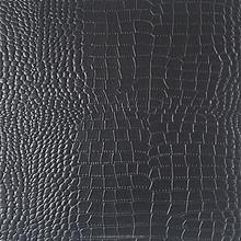 High quality pvc black crocodile skin CW347