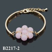 Wholesale Fashionable 2015 New Products Chain Bracelet Bangles Big Beads Balls Gold Bracelet