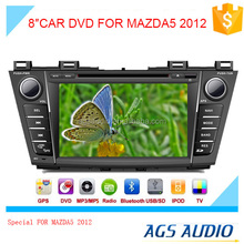touch screen car dvd gps navigation system with radio/mp3/gps for MAZDA5 2012