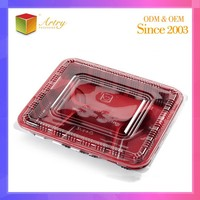 Hot Selling Custom Direct Selling disposable Bento plastic lunch box