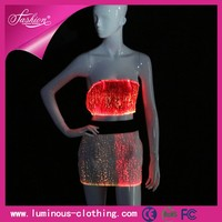 New design optic fiber fashion sexy homecoming wedding dress
