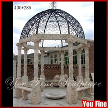 Hand Carved Garden Decorative Marble Patio Gazebo