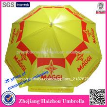maggi 250cm a prueba de viento promocional pvc sombrilla de playa
