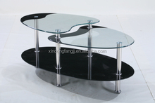 black color coffee table/ steel leg coffee table/ round coffee table