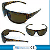 Plastic sports sun glasses with plastic hinges