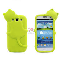 kiki cat 3d silicone case for sam-sung galaxy s3, galaxy s3 3d case, YT-S1069 M