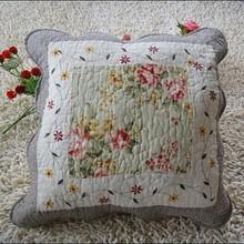 Cotton Printing Rose Decorative Sofa Pillow