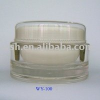 Roundish Acrylic Cream Jar acrylic jar