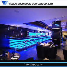 LED Nice Modern Acrylic Solid Surface Commercial Bar Furniture, Commercial Bar Counter