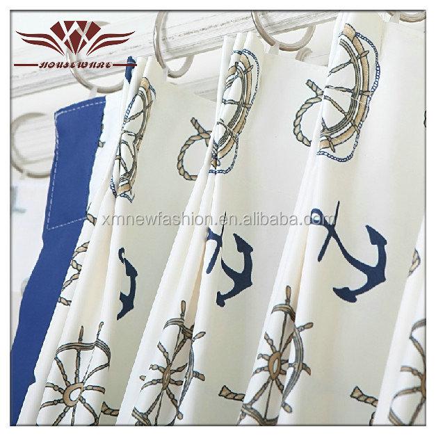 marine bleu rideau boy 39 s chambre rideau med ancres et bateau rail tissu rideaux id de produit. Black Bedroom Furniture Sets. Home Design Ideas