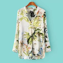 NZ2058 spring long sleeve woman tops china supplier women blouses stylish blouse for lady