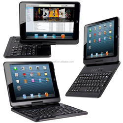 new USB port 7.9 Inch Bluetooth Keyboard case For iPad mini 2 with 360 Degree Rotating wireless mini bluetooth keyboard