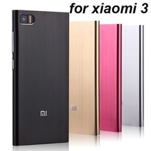 Luxury Ultrathin Aluminum Back Metal Case for xiaom3 case cover for xiaomi 3 Top quality xiaomi Mi3 cover case 10 color