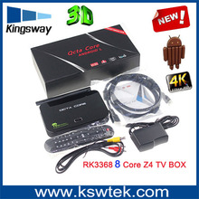 Hot selling indoor z4 smart tv box android 5.1 Rk3368 octa core1080p android tv box dvb z4