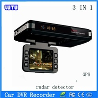 Hot Sale!driver autosave recorder hd car dvr recorder auto motion detect camera plus Radar Speed Detector,gps russian voice,3in1