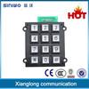 12 keys high quality access control keypad locks telephone number keypad
