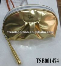 hot sale fashion gold cosmetic bag glitter