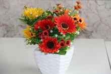 NZ-6018 artificial flower small bush sunflowers-13buds artificial flowers