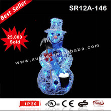 Battery operated Blue LED Snowman christmas product
