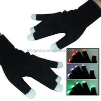 New product Multi-Color LED Party Gloves led gloves (Black)