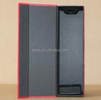 Magnetic cardboard vodka bottle box ,750ml bottle packaging box